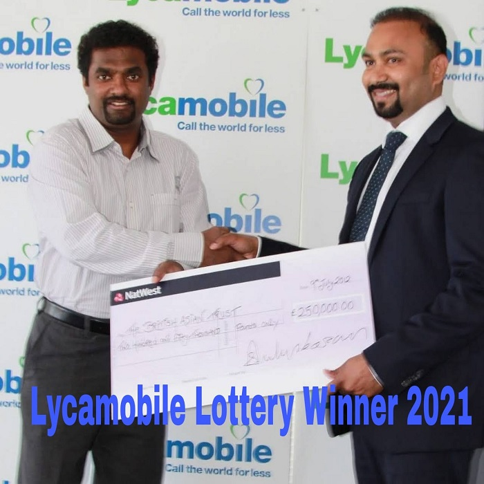 Lycamobile Lottery Winner 2021
